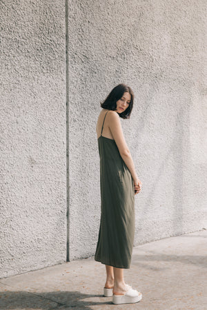 DRAWSTRING WING DRESS