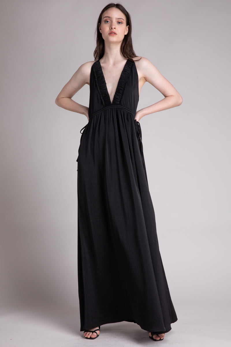 SLEEVELESS MAXI DRESS  100% POLYESTER IMPORTED