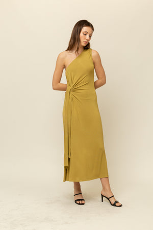ONE SHOULDER JERSEY DRESS