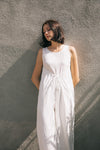 DRAWSTRING WING JUMPSUIT