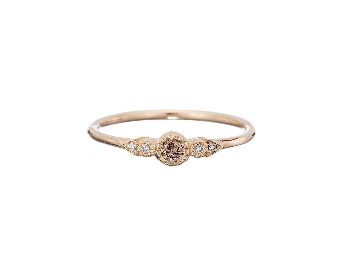 Jennie Kwon Designs :: Champagne Diamond Journey Ring size 6