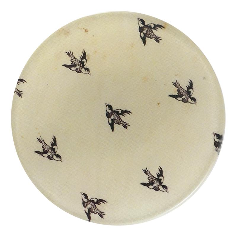 "John Derian :: 4"" Round Dish, In Flight"