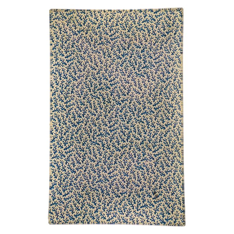 "John Derian :: 5 x 8"" Rectangle Tray, Blue Vines Card Back"