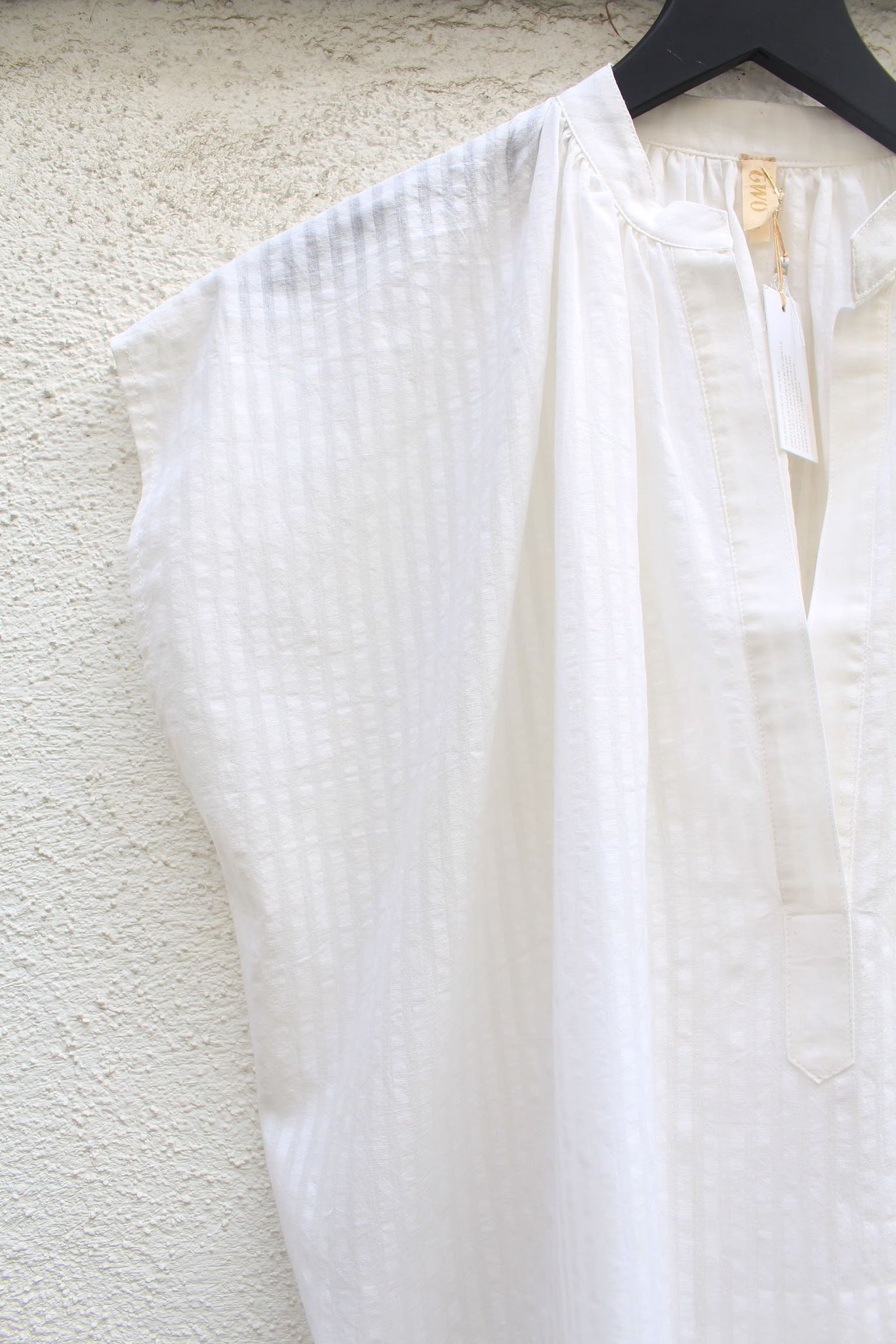 Two :: White, Khadi Stripe Shirt