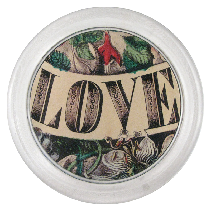"John Derian :: 6"" Bottle Coaster, Love"