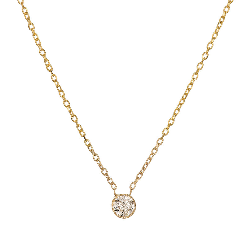 Jennie Kwon Designs :: Champagne Diamond Magic Eye Necklace 3.5mm, 16""