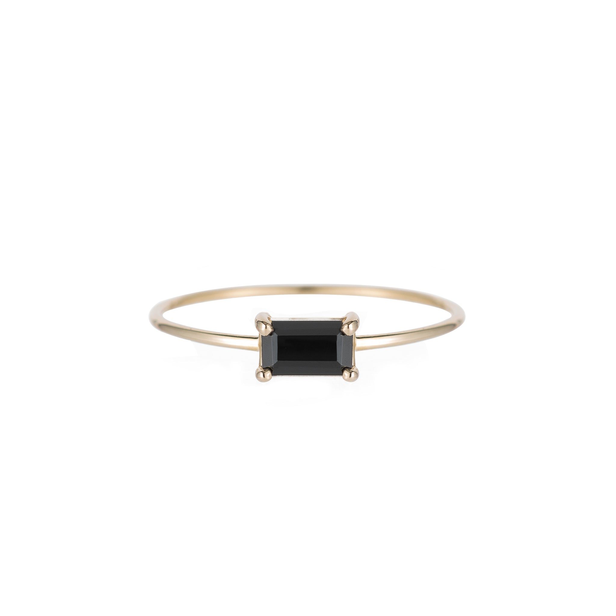 Jennie Kwon Designs :: East West Onyx Ring, size 6