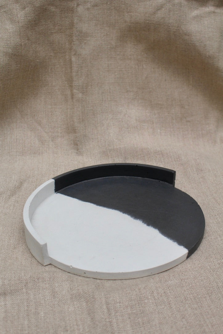 Alice Tacheny Design :: Slab Plate, Black & White