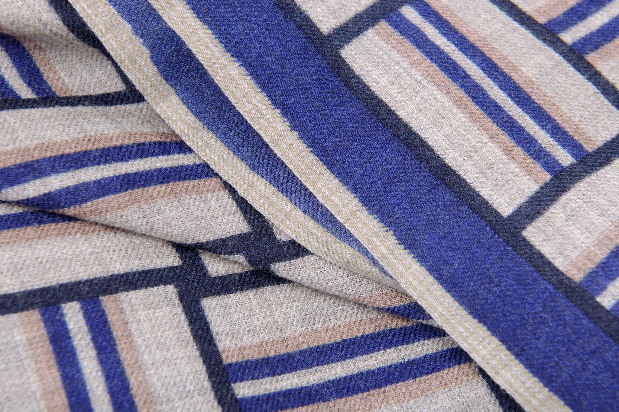 Moismont :: Scarf 460, Basketweave, Japan Blue