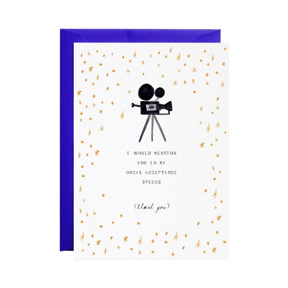 Mr. Boddington's Studio :: My Oscar Speech Thank you, Greeting Card