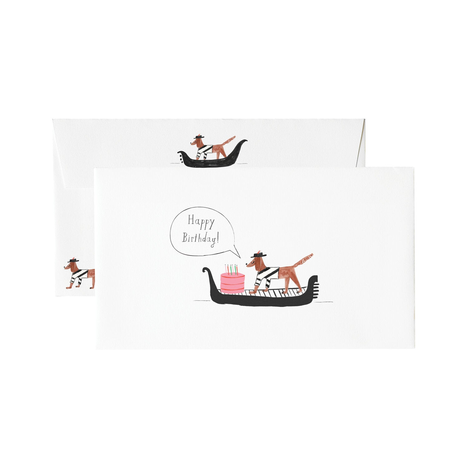 Mr. Boddingtons Studio :: Cake Delivery on the Canal Birthday, Greeting Card