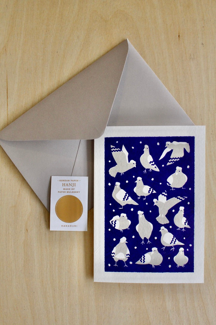Hanaduri :: NY PIgeons Greeting Card