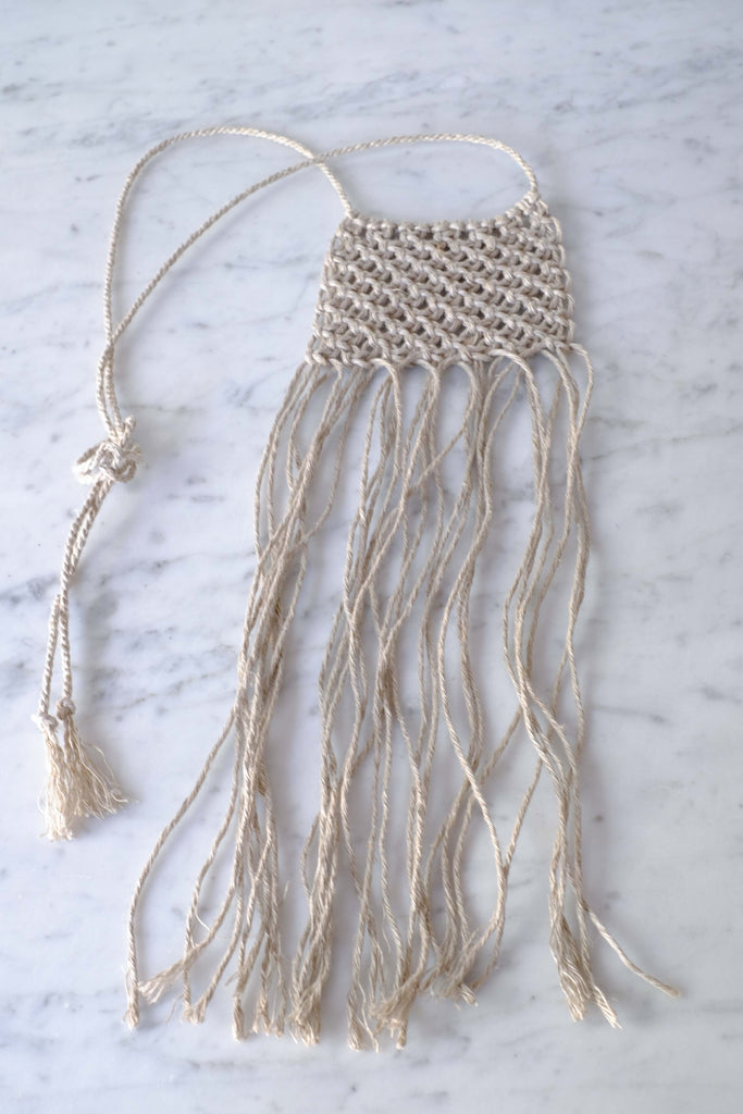 Cathy Callahan :: Small Macrame Necklace Natural
