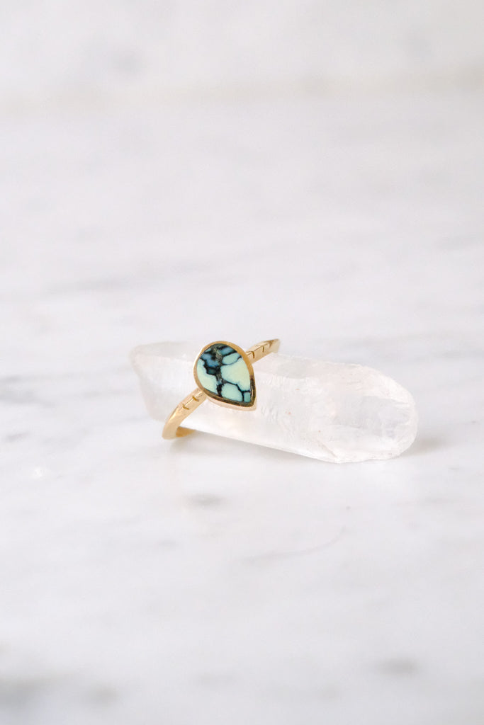 Young In the Mountains :: Teardrop Ring Turquoise size 7