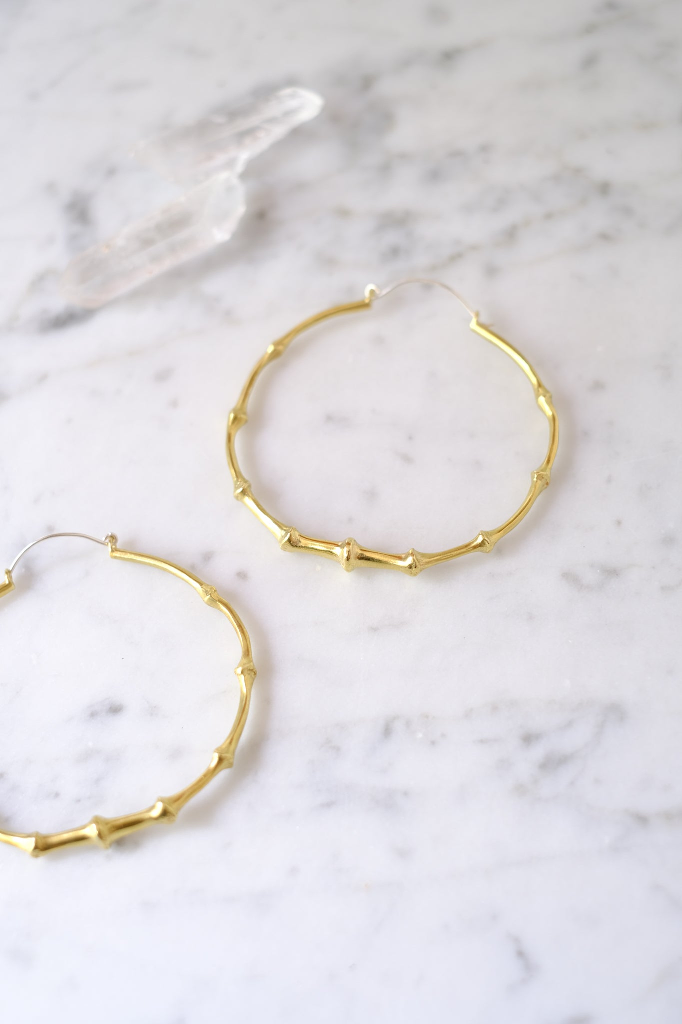 K/ller :: Earrings, Bat Tail Hoops, Brass