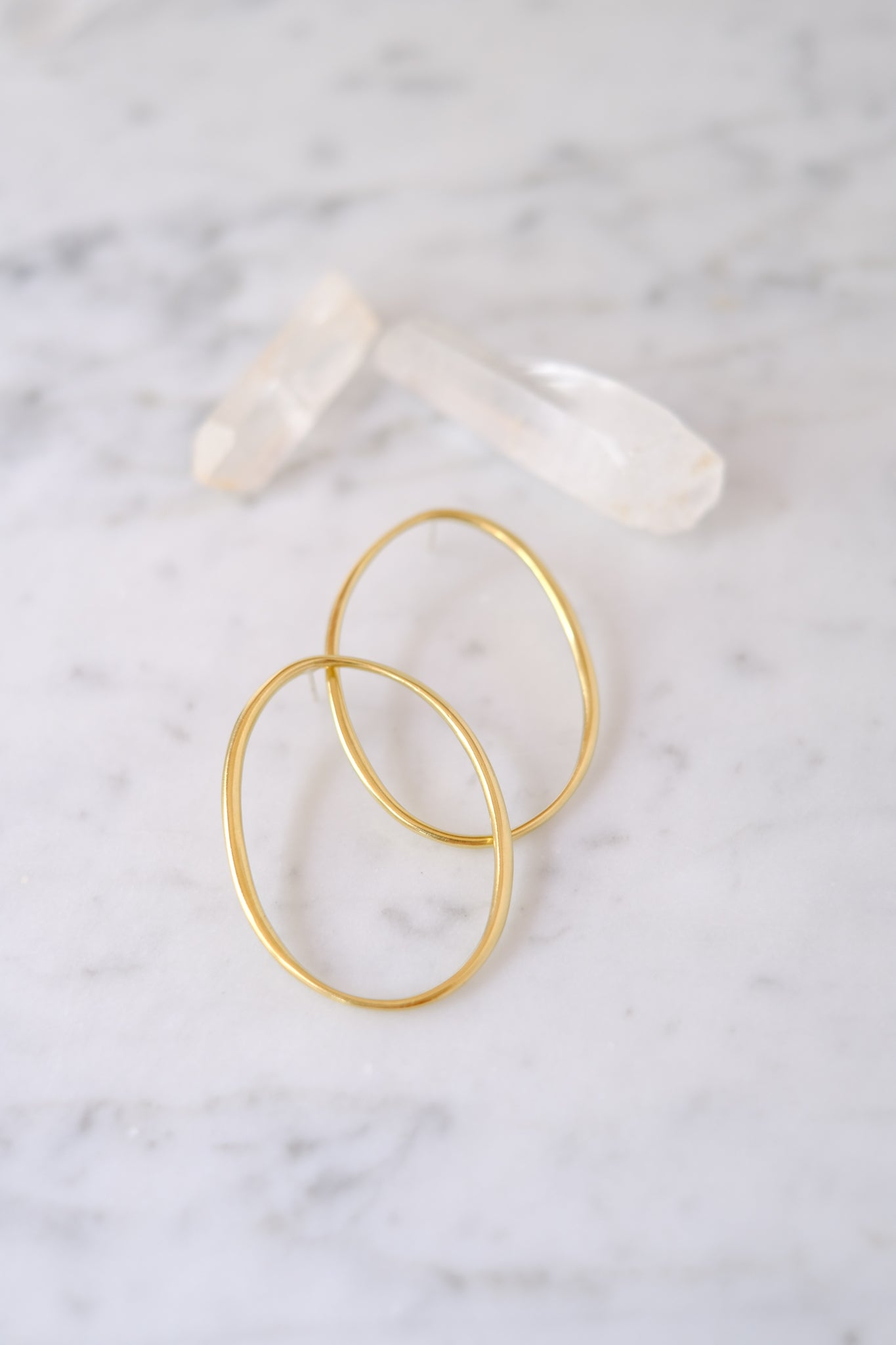 K/ller :: Earrings, Large Elipse Suds, Brass