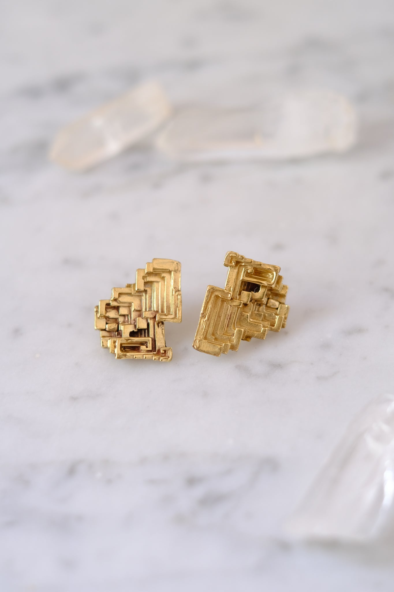 K/ller :: Earrings, Bismuth Studs