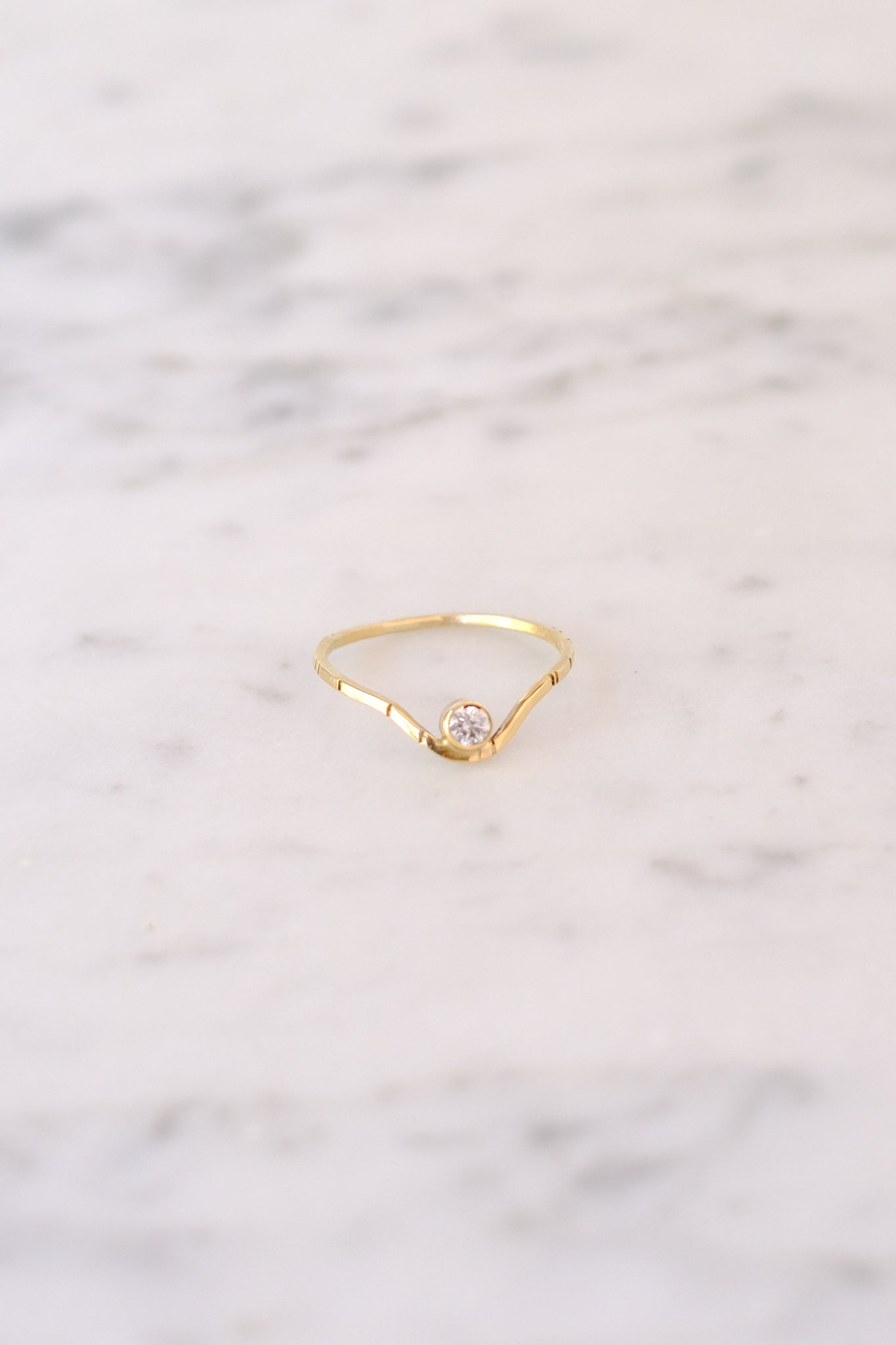 Young In the Mountains :: Valley of the Moon Ring .10 White Diamond Size 6