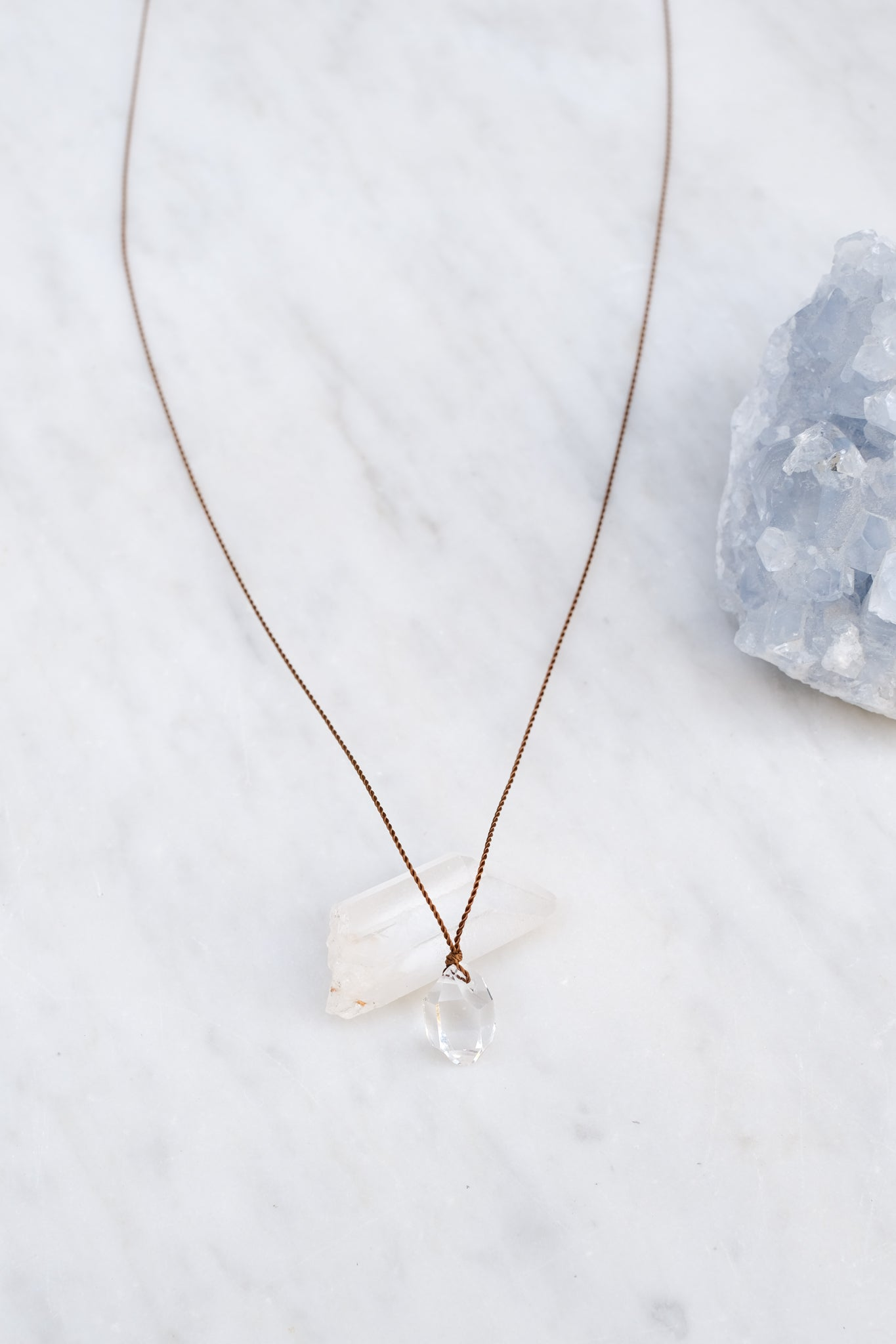 Margaret Solow :: Herkimer Diamond Necklace, Large
