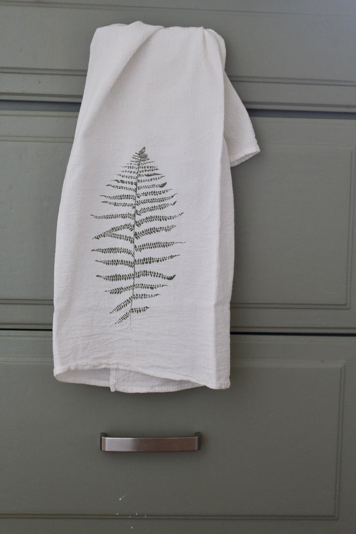 June & December :: Kitchen Towel, Wood Fern