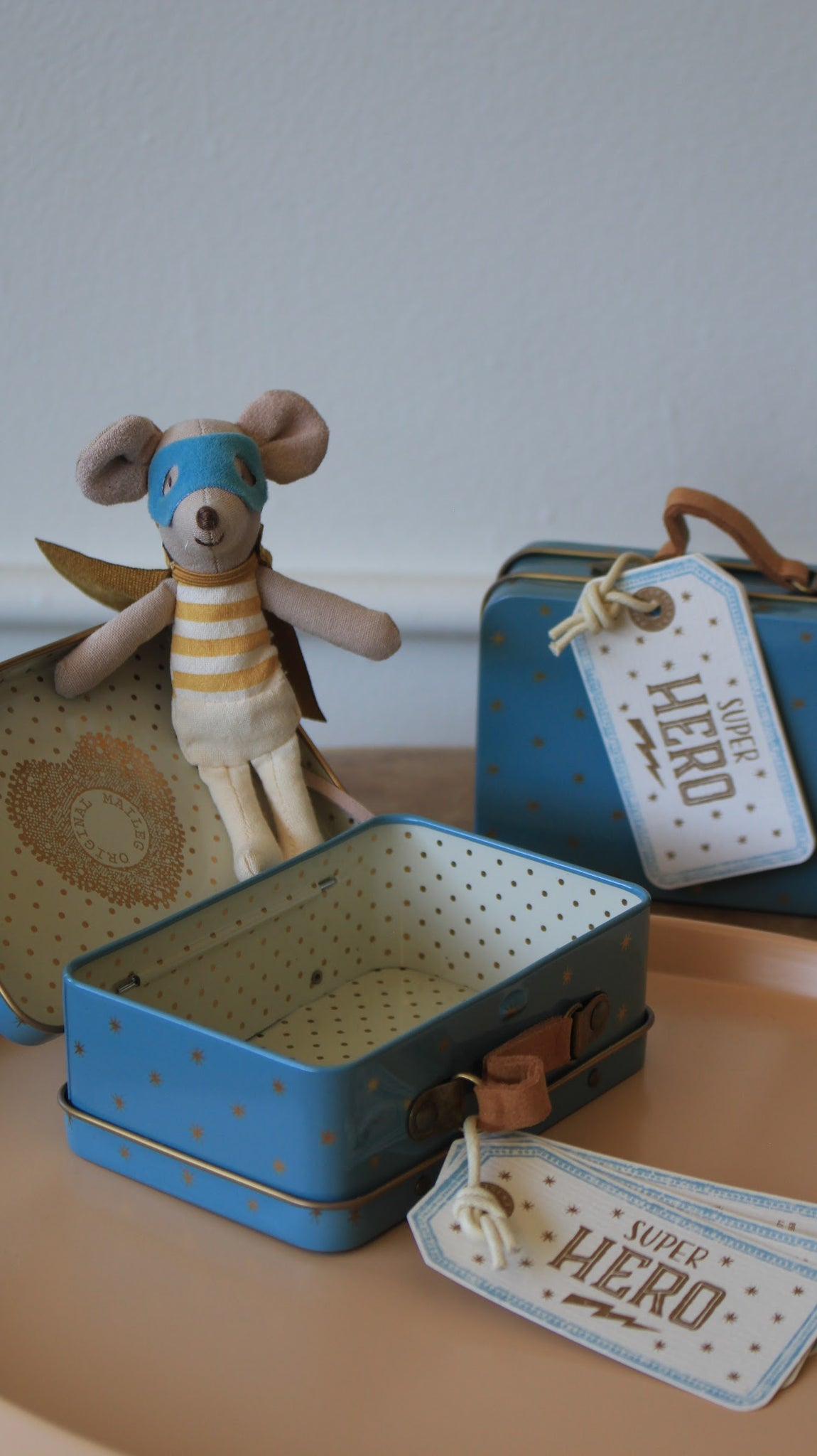 Maileg :: Superhero Mouse in Suitcase