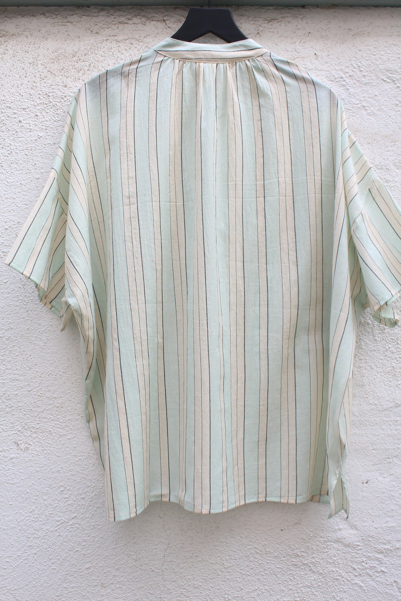 Two :: Two Pocket Shirt, Light Blue Stripe
