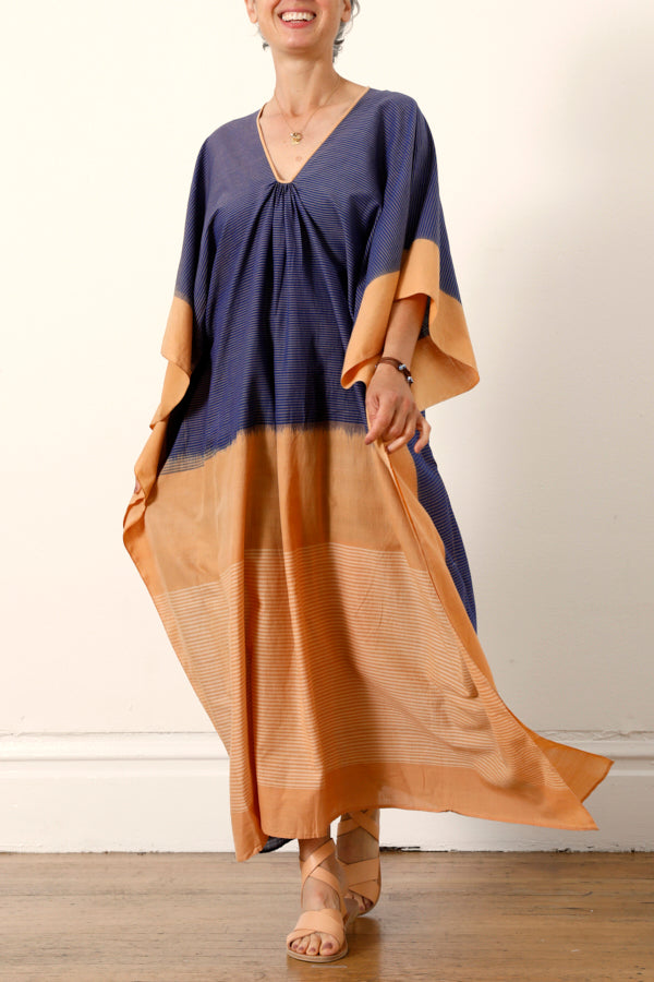 Two :: Ikat Caftan Blue/Caramel