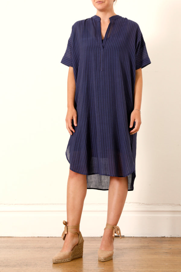 Two :: Pullover Shirtdress Blue/Olive