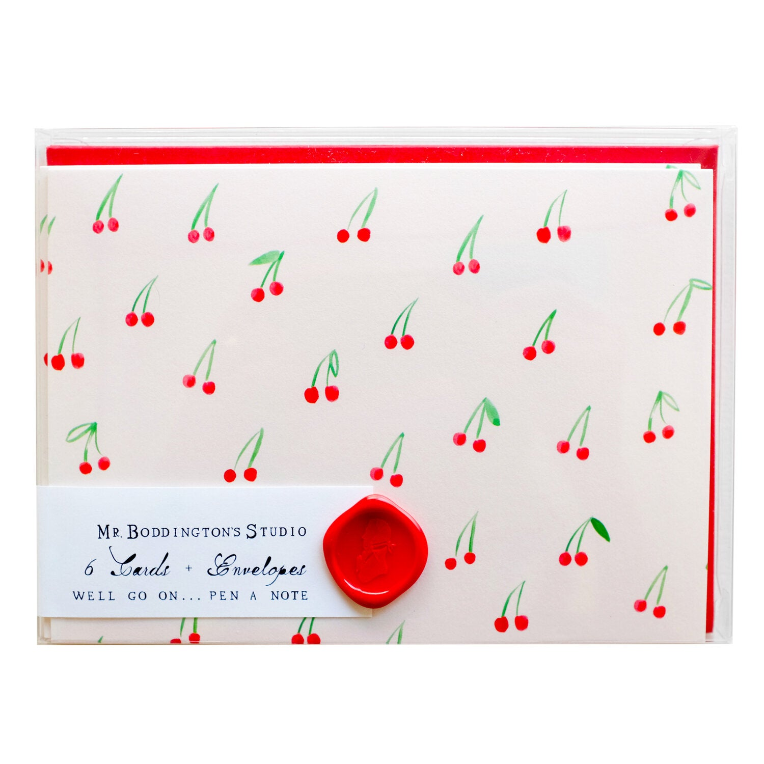 Mr. Boddington's Studio :: Boxed Cards, Cherries On Top, Set of 6