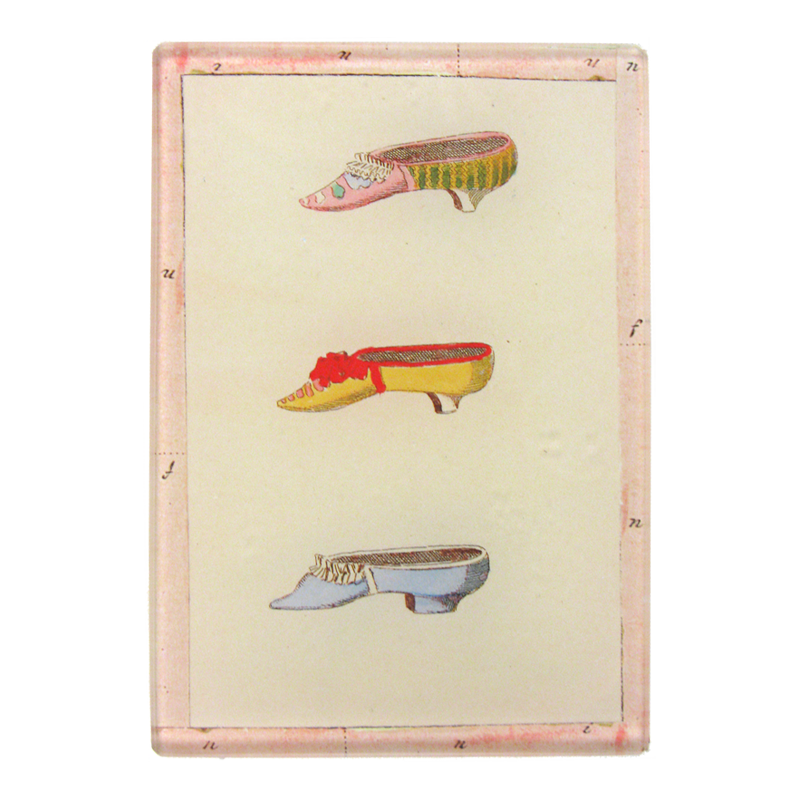 "John Derian :: 3.5"" x 5"" Tiny Rectangle Tray, Slippers"
