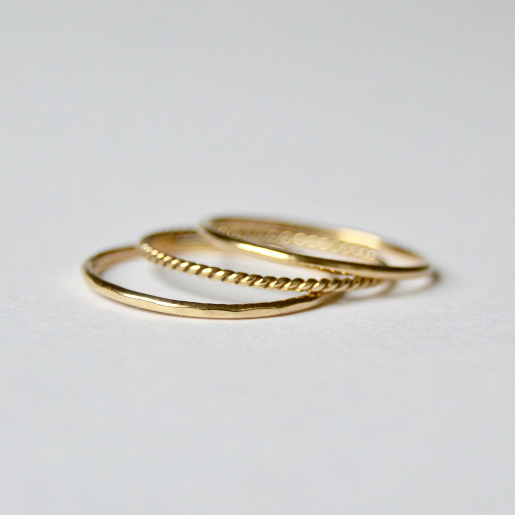 Halcyon :: Stax Ring, Set of 3