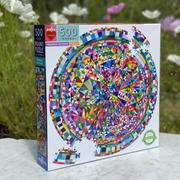 Eeboo :: Triangle Pattern Round Puzzle 500 pc