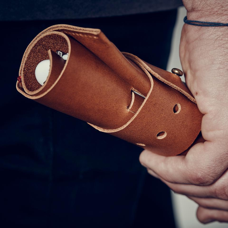 AWA :: Leather Cord Roll, Tan