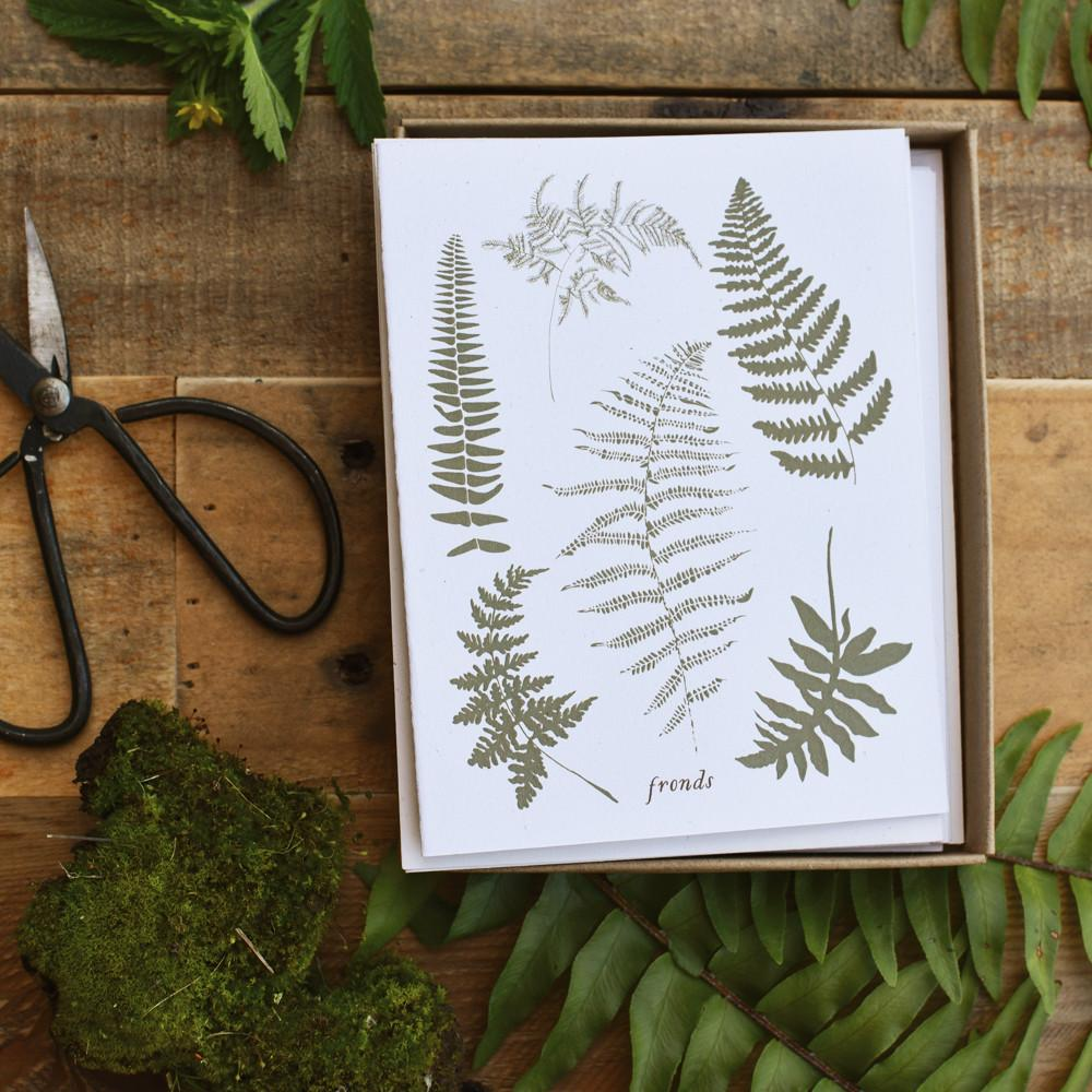 June & December :: Box Cards, Fronds, Set of 8