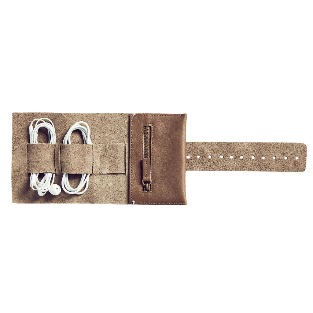 AWA :: Leather Cord Roll, Grey