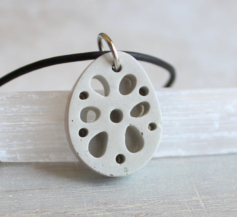 Lotus root necklace - solid colors