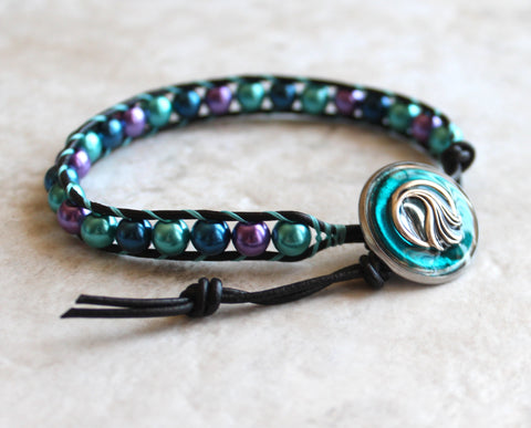 pin bracelets key wave friendship ocean greek bracelet