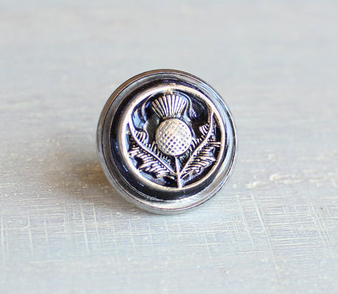 Scottish thistle tie tack / lapel pin - additional colors available