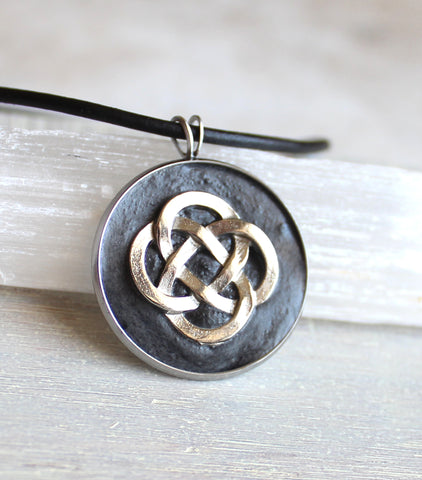 Concrete Celtic knot necklace