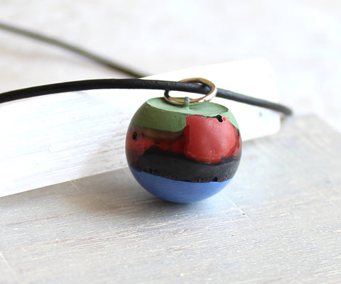 Wrecking ball necklace - multi color