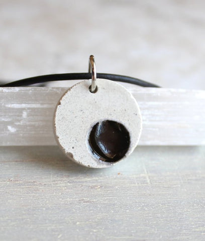 Black dot necklace