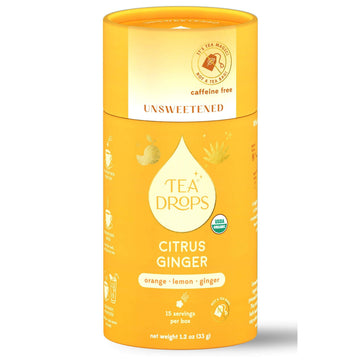 Tea Drops - *Unsweetened* Citrus Ginger