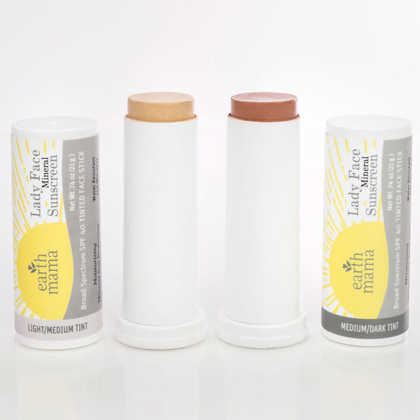 Earth Mama - Mineral Sunscreen - Lady Face Stick (SPF 40) - Grassroots Baby