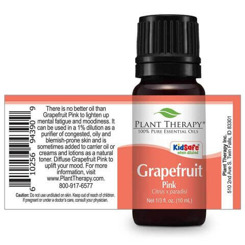 Plant Therapy - Grapefruit Pink Essential Oil 10 mL - Grassroots Baby
