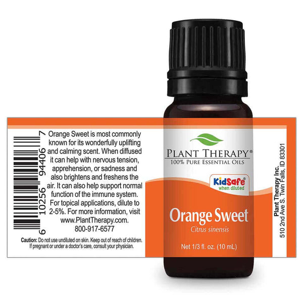 Plant Therapy - Orange Sweet Essential Oil 10 mL - Grassroots Baby