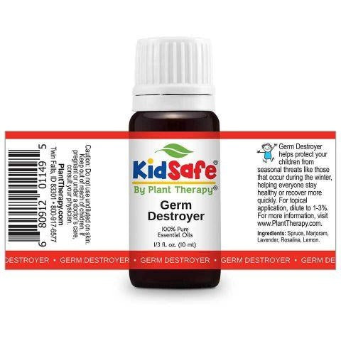 Plant Therapy - Germ Destroyer KidSafe Essential Oil Blend - Grassroots Baby