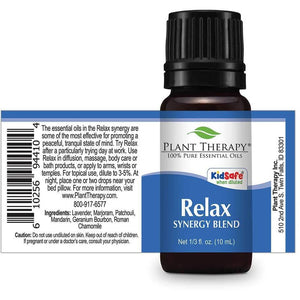 Plant Therapy - Relax Synergy Essential Oil 10 mL - Grassroots Baby