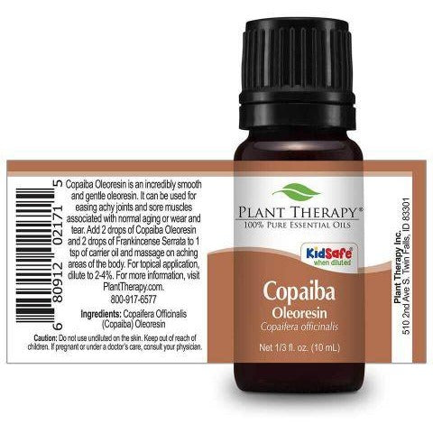 Plant Therapy - Copaiba Oleoresin Essential Oil 10 mL - Grassroots Baby