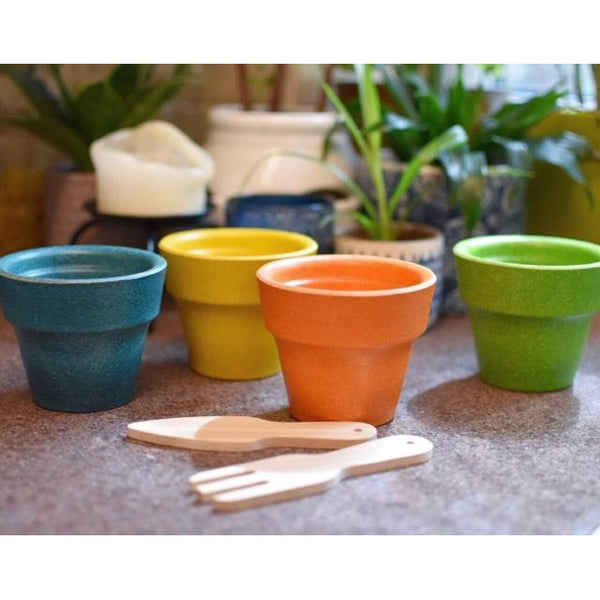 PlanToys - Flower Pot Set - Grassroots Baby