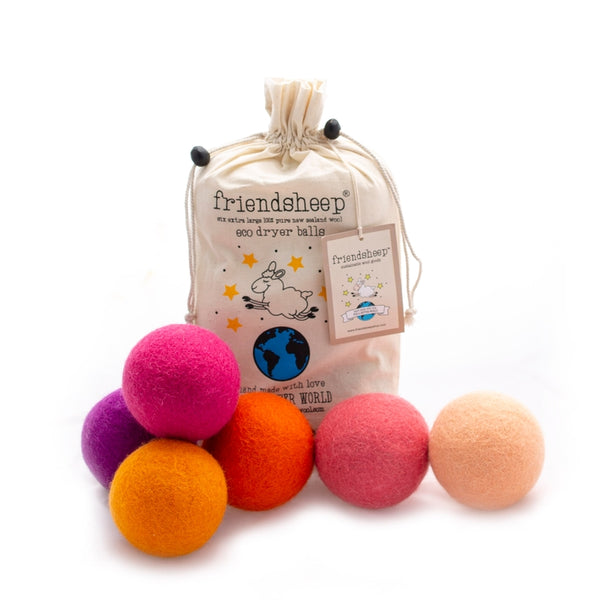 Friendsheep - Wool Dryer Balls (Individual)-Friendsheep Wool-Solid Colors (Please note if you'd like bright or neutral colors.)-Grassroots Baby